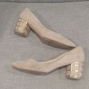 Brian Atwood tan suede pumps sz 8